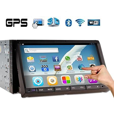 Subwoofer š²ltimas Android sistema 2 MP3 Din DVD de voiture estšŠreo capacitiva plusieurs tš¢ctil pantalla Vehšªculo construido en 3D GPS LCD Navegaciš®n Bluetooth iPod Radio WiFi BT transmisor
