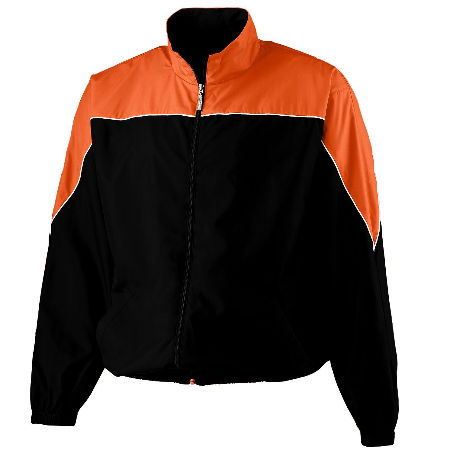Youth Poly Color Block Jacket, Color: Black/Orange/White, Size: Small youth baseball jersey color white maroon size medium
