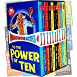 Murderous Maths 10 Books Boxed Collection Pack Set by Kjartan Poskitt RRP: �59.99 (Awesome Arithmetricks: How to + - X, Desperate Measures, Do You Feel Lucky?, Easy Questions, Evil Answers, : Guaranteed to Bend Your Brain,  Guaranteed to Mash Your Mind: More Muderous Maths, The Key to the Universe, The Perfect Sausage and Other Fundamental Formulas, The Phantom X, Savage Shapes)by Kjartan Poskitt