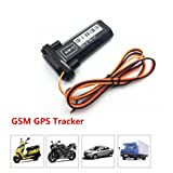 Inverlee Waterproof Car Vehicle Motorcycle GSM GPS Real Time Tracker Locator Global Real Time Trac Device for Car Auto Vehicle Tracker (Black) (Color: Black)