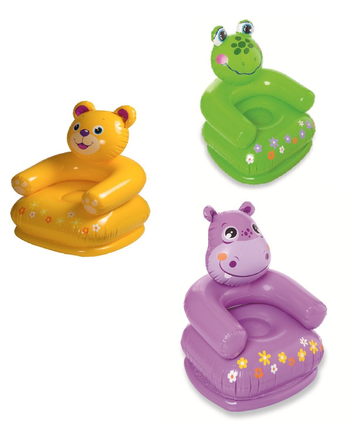Baby eating chair attached to table - Bear Shape Intex Animal Chair Inflatable Toys