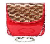 Felicita Women's Designer Laser Cut Small Sling Bag (Red)