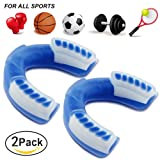 Coolnice Sports Mouth Guard for Youth & Adult, Pro-Quality Stylish Protect your Teeth and Gums. Easy Custom-Fit with Extra Grip, for Boxing, MMA,Football, Hockey, Multi-Sport - 2 Pack