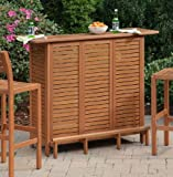 Home Styles 5661-99 Montego Bay U-Shaped Outdoor Bar Cabinet, Eucalyptus Finish (Discontinued by Manufacturer)
