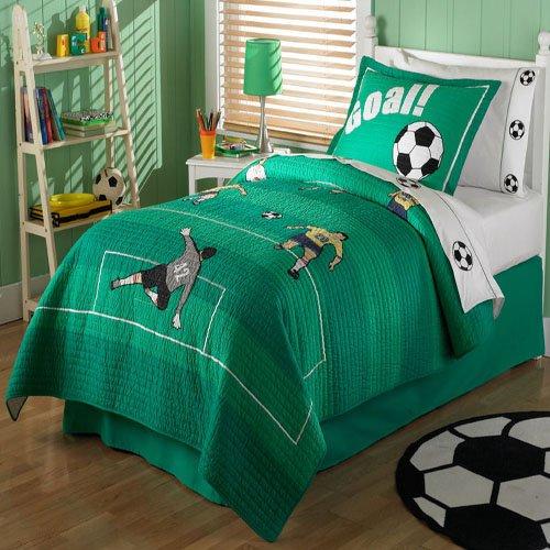 Interior bedroom boys cartoons and sports themes