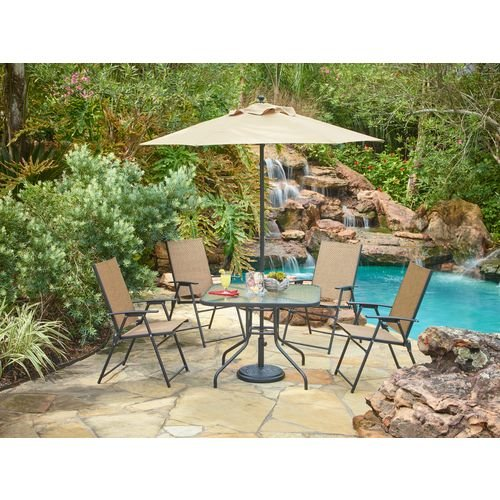 folding patio set with umbrella 1