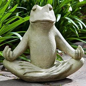 Amazon.com : Totally Zen Too Statue Color: Aged Limestone : Patio