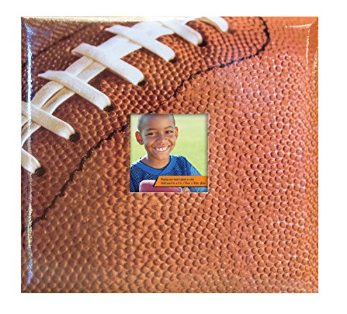 MCS MBI Sport and Hobby Postbound Album 12-Inch-by-12-Inch Page , 13.2 x 12.5 Album, Football Theme (Football Scrapbook Album compare prices)