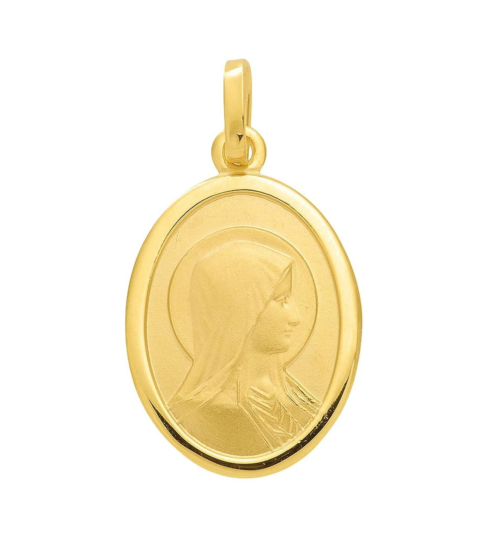 Damen Schmuck Gold Medaille / Anhänger Madonna aus 333 Gelb Gold ( 13 x 16 mm ) jetzt kaufen