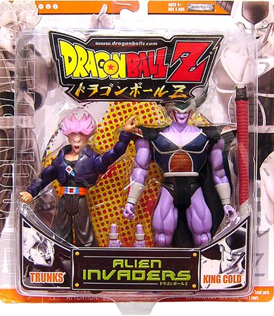 Buy Low Price Jakks Pacific Dragonball Z Alien Invaders Action Figure 2Pack Trunks Vs. King Cold Orange Package (B004C78K5E)