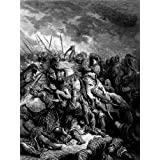 GUSTAVE DORÉ RICHARD I LIONHEART IN BATTLE AT ARSUF IN 1191 ART PRINT 12x16 inch 30x40cm 1208OM