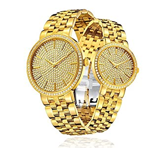 ONLYOU Lover's Watches Analog Display Luxury Sapphire Stainless Steel Watch Strap Women Men 6960GL