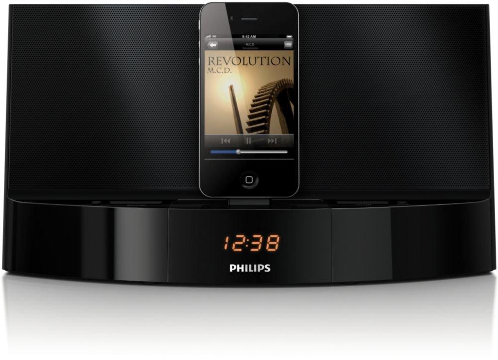 philips ad712 05 dockingstation iphone ipod lautsprecher schwarz ebay. Black Bedroom Furniture Sets. Home Design Ideas