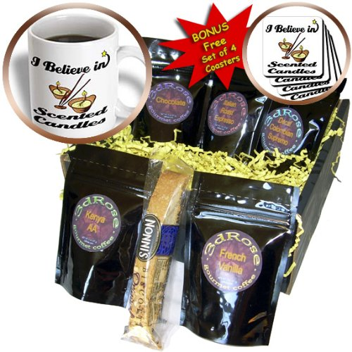Cgb_105516_1 Dooni Designs I Believe In Designs - I Believe In Scented Candles - Coffee Gift Baskets - Coffee Gift Basket