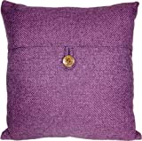 Decorative Button Purple Throw Pillow Cover 18""