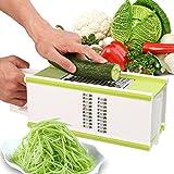 Yivans Gemüsehobel Gemüseschneider Spiralschneider Qualität Klingen aus rostfreiem Stahl Kartoffeln, Gurken, Karotten, Ingwer und Knoblauch, usw (A enthalten Handschutz)