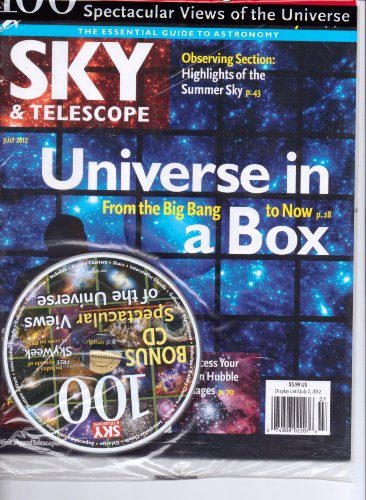 Sky & Telescope Magazine. Universe In A Box - Free Cd. July 2012.