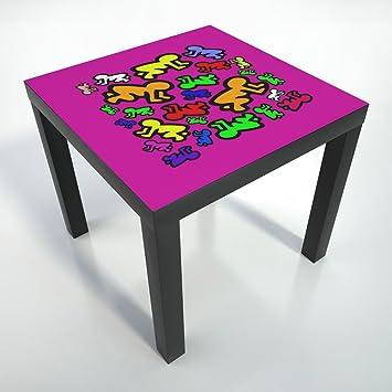 table basse pellicule de de protection 55x55 cm table table noire table basse. Black Bedroom Furniture Sets. Home Design Ideas