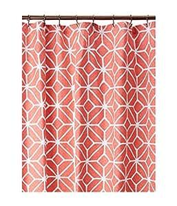 Trina Turk Unisex Trellis Shower Curtain Coral Amazonin