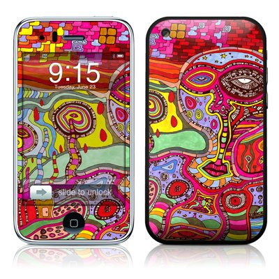 The Wall Design Protector Skin Decal Sticker For Apple 3G Iphone / Iphone 3Gs 3G S