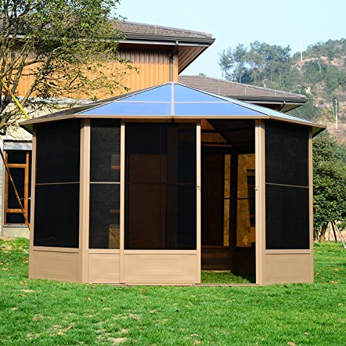 outsunny alu gartenhaus haus gartenpavillon pavillon partyzelt zelt garten 4x4m dach. Black Bedroom Furniture Sets. Home Design Ideas