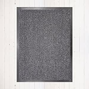 Dirt trapper large mat grey black 60cm x 80cm for Dining chairs t k maxx