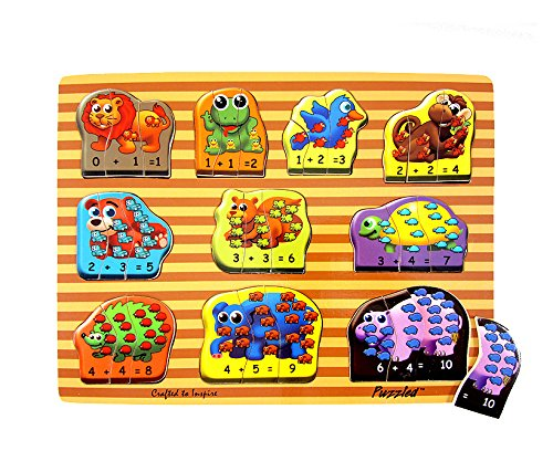 Puzzled Raised Puzzle, Animals Math - 1
