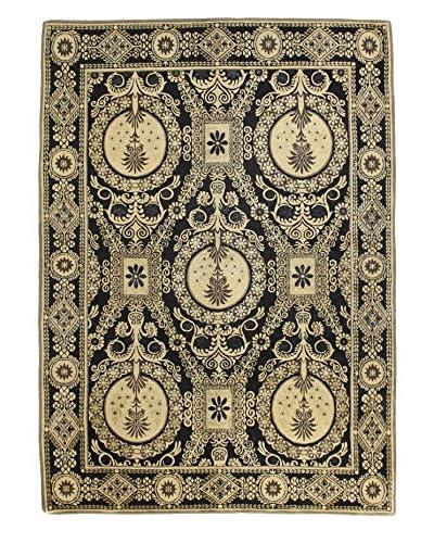Bashian Rugs Hand-Knotted Tibetan Rug, Black, 5' 2 x 7' 2