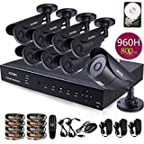 ZOSI 8 CH DVR Home Security System 8PCS 960H 800TVL 42 IR Leds 40m Night Vision Outdoor Surveillance CCTV Waterproof Camera Kits with 500GB