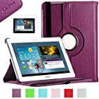 Samsung Galaxy Tab 2 10.1 Case, ULAK PU Leather 360 Rotating Multi Viewing Angles Stand Case Cover for Samsung Galaxy Tab 2 10.1 inch P5100 P5110 Tablet with Screen Protector (Purple)