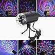 SOLMORE Lampe de Scène RGB/GVB DJ LED Atmosphère Lumière Ampoule Boule Cristal Commande Sonore pour Disco/Bal/Soirée/Bar/Club/Anniversaire EU Prise 220V