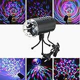 SOLMORE Disco RGB Stimme Aktiviert LED Lichteffekt Bühnenbeleuchtung Kristalleffekt Lampe Projektor DJ Party 3W 110-220V