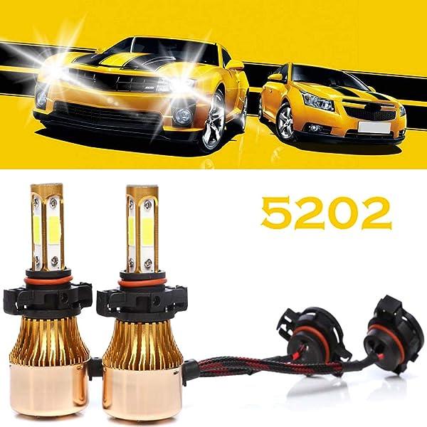 Isincer LED Car Headlight Kit H4 120W 20000LM Hi Lo Beam Light Bulbs Lamp 6000K