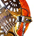 VINTAGE NATIONAL RESONATOR GUITAR PICKUP with FLEXIBLE MICRO-GOOSE NECK by Myers Pickups ~ See it in ACTION! Copy and paste: myerspickups.com