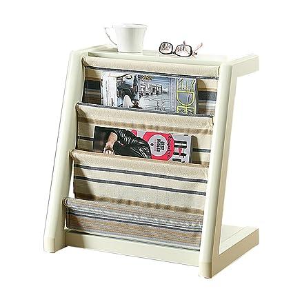 MEILING Scaffale per libri in legno massiccio Scaffale per libri in legno massiccio Scaffale per riviste Scaffale per libri verticale Mobili per studio ( Colore : Bianca )