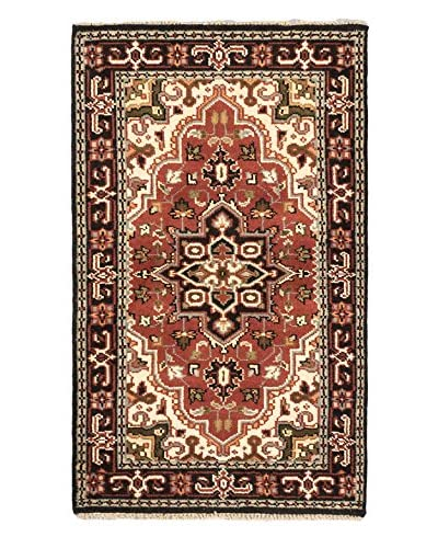 Hand-Knotted Royal Heriz Wool Rug, Copper, 3' x 5' 1""