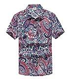 (ラブビューティー) Lovebeauty  メンズ ワイシャツ 半袖シャツ ビーチシャツ アロハシャツ おしゃれ 旅行 速乾 大きいサイズある