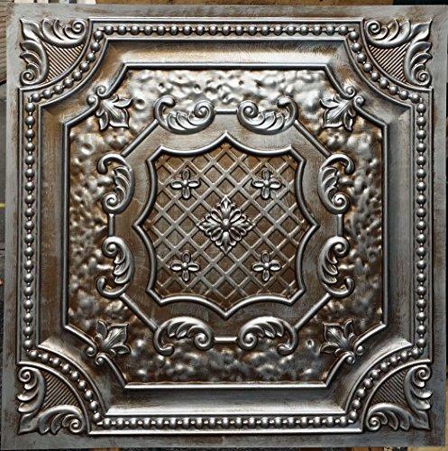pl04en étain plafond 3D Dalles étain antique cuivre gaufrage Café Pub Shop Art Décoration murale panneaux 10pieces/Lot