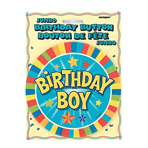 Jumbo Birthday Boy Button