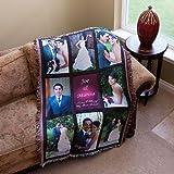 Photo Personalized Nine Panel Throw Blanket