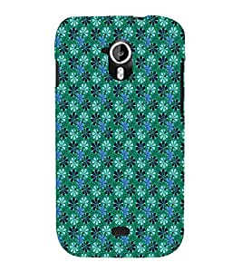 EPICCASE velvet greeny flowers Mobile Back Case Cover For Micromax Canvas 2 A110 (Designer Case)