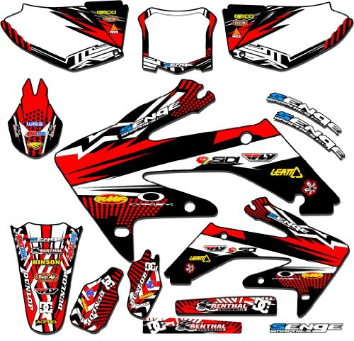 Senge Graphics 1991-2001 Honda CR 500R Mayhem Red Graphics Kit