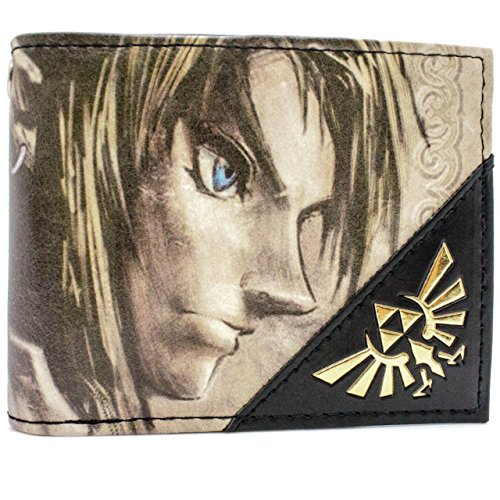 Nintendo Legend of Zelda Crepuscolo link Oro portafoglio