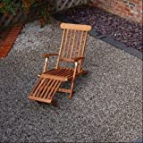 Home & Garden Direct Teak Garden Steamer Deck Chair
