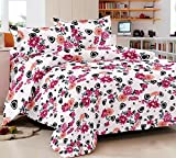 Trance Double Bed Comforters - Dark Pink
