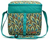 MIER 18L Large Soft Cooler Picnic Bag Portable Women Lunch Box Carrier, Bright Green Color