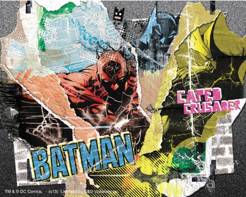 "DC Comics Batman Collage STICKER ADESIVO, Officially Licensed Artwork, 4"" x 5"" - Long Lasting Sticker DECAL"