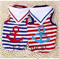 人気マリンボーダーTシャツ アンカーマーク (レッド(赤), L (首囲33胸囲48背丈33))