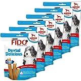 Fido Dental Delicious Snacks à mâcher pour chien de taille moyenne (10-25kg) 200 g (7 bâtonnets)  - Lot de 6