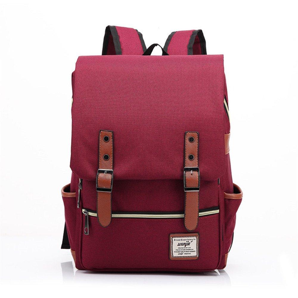 orota Vintage College Backpack School Bookbag Canvas Laptop Backpack rucksacks 1